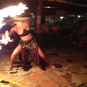 Live fire show at Rocking J's