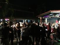 Late night dancing